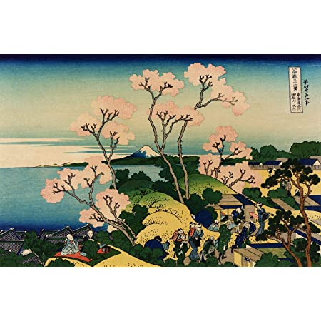 Fuji by Hokusai 16 x 20 inches or 40 x 50cm Cross-Stitch Patterns Mt Boho Town Stamped Cross Stitch Kits Full Range of Embroidery Needlework Starter Kits for Adults DIY Kit