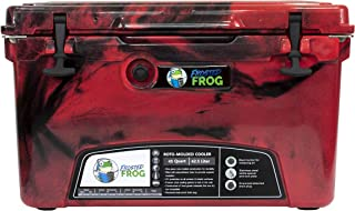 Frosted Frog Red Camo 45 Quart Ice Chest Heavy Duty High Performance Roto-Molded Commercial Grade Insulated Cooler