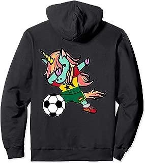 Unicorn Dabbing Ghana Soccer Jersey Ghanaian Football Hoodie