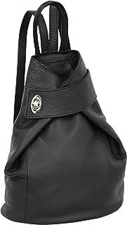 AMBRA Moda echt Leder Damenrucksack CityRucksack Daypack GL014