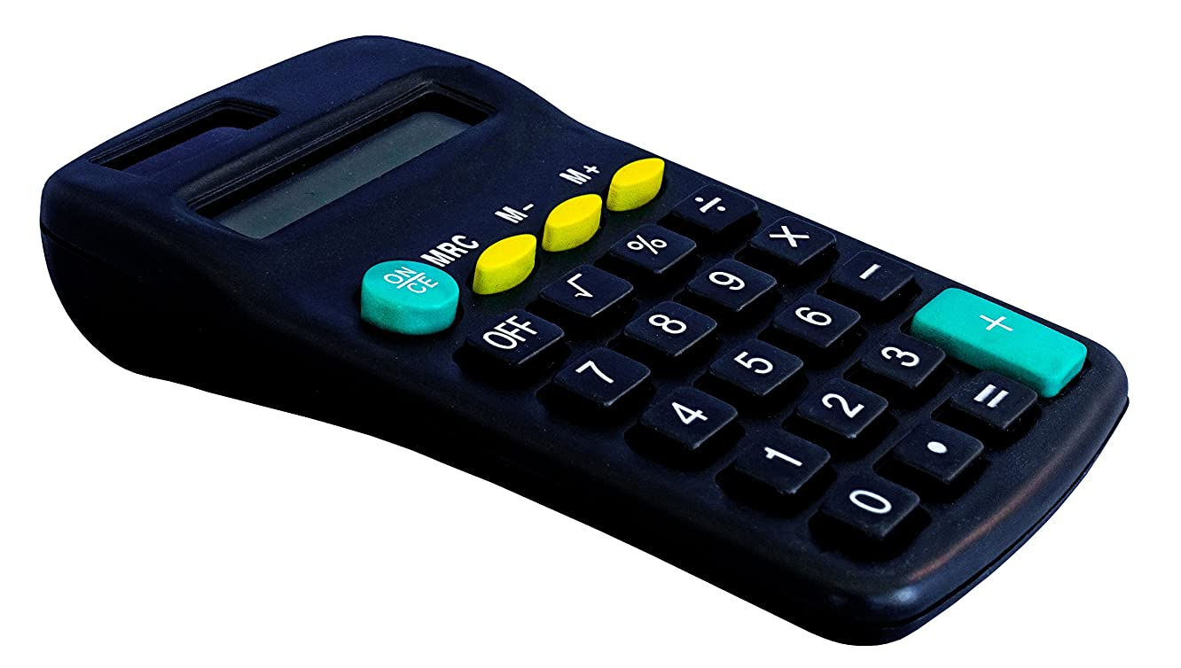 8 Digit Pocket Calculator with AA Batteries
