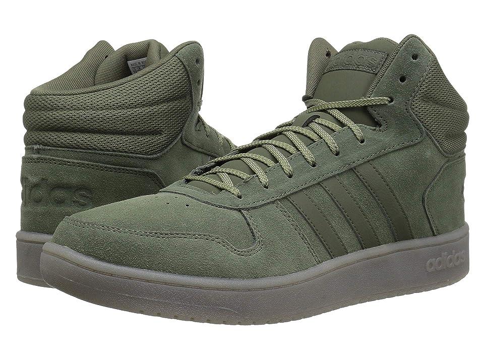 adidas Hoops 2.0 Mid (Base Green/Base Green/Trace Cargo) Men