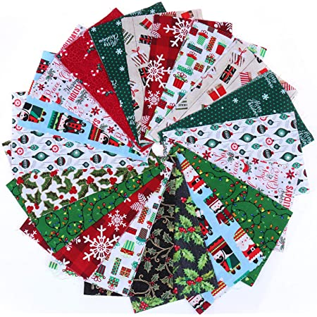 Konsait 6 Pieces 19.7 x 15.7 inch Cotton Fabric Multi-Color Floral Fabric Patchwork Cotton Mixed Squares Bundle Sewing Quilting Craft Sewing Square Fabric Scraps for DIY Sewing Quilting