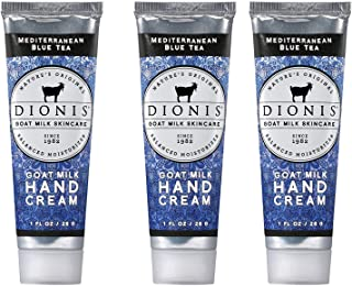 Dionis Goat Milk Skincare Hand Cream - 3 Piece Gift Set - Mediterranean Blue Tea