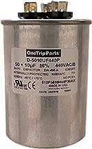 OneTrip Parts USA Run Capacitor 50+10 UF 50/10 MFD 370 VAC / 440 VAC 2-1/2 Inch Round Heavy Duty