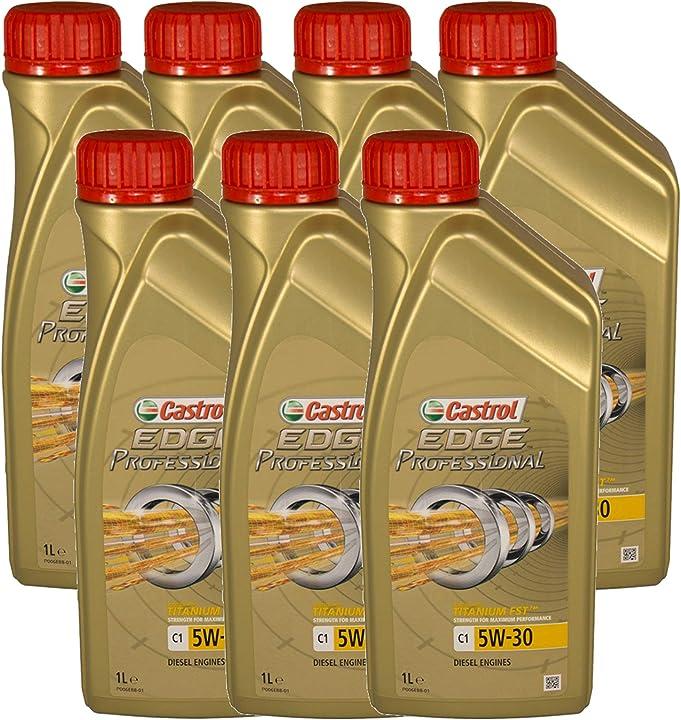 Olio motore castrol edge professional c1 5w30 - olio per auto lubrificante titanium 5w-30 7 litri 1537EE