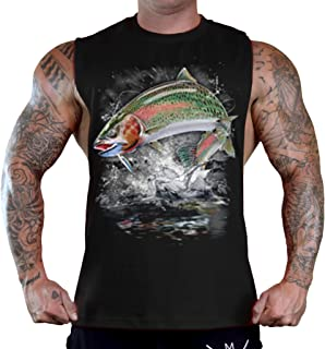 Rainbow Trout Splash All Over Adult Tank Top