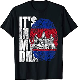 It's In My DNA Cambodian Gifts Khmer Kampuchea Cambodia Flag T-Shirt
