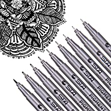 Dyvicl Black Micro-Pen Fineliner Ink Pens - Waterproof Archival Ink Micro Fine Point Drawing Pens for Sketching, Anime, Ma...
