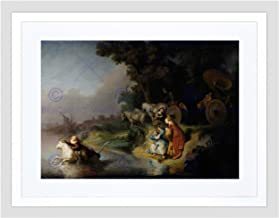 Landscape Mythology Greek Rembrandt Abduction Europa Framed Art Print B12X3671