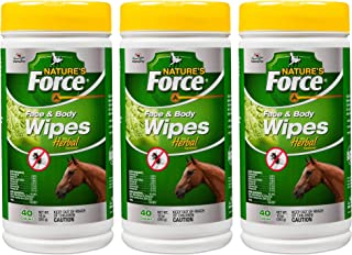 Manna Pro Nature's Force Face and Body Wipes for Fly Control, 40 Count (Pack of 3)