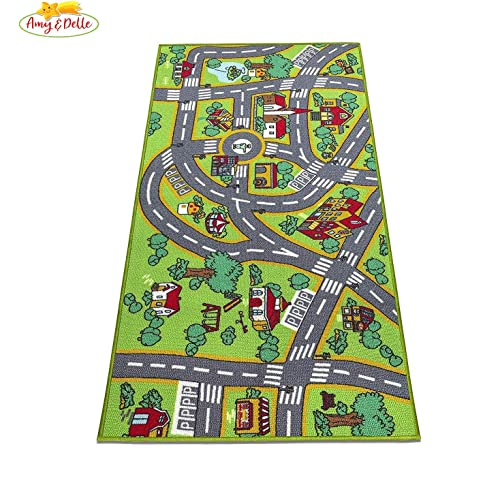 Amy & Delle - Kids Play Mat Car Rugs - for Children