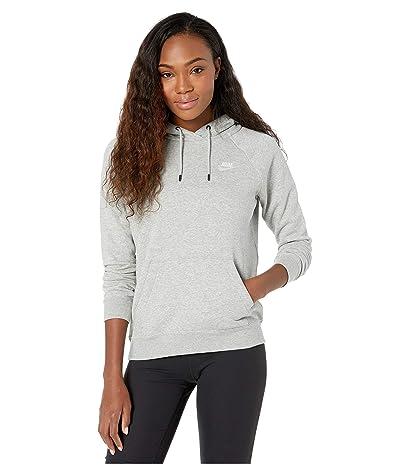 Nike NSW Essential Hoodie Pullover Fleece (Dark Grey Heather/White) Women