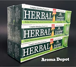 HERBAL ESSENTIAL TOOTHPASTE NEW 5 IN 1 FORMULA 6 PACK ORAL CARE DENTAL