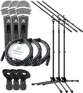 Ara/ña de micr/ófono Pronomic MSP-45 con pantalla anti pop 45-52 mm