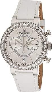 Swarovski Citra Sphere Chrono Women's White Dial Leather Band Watch - 5027127
