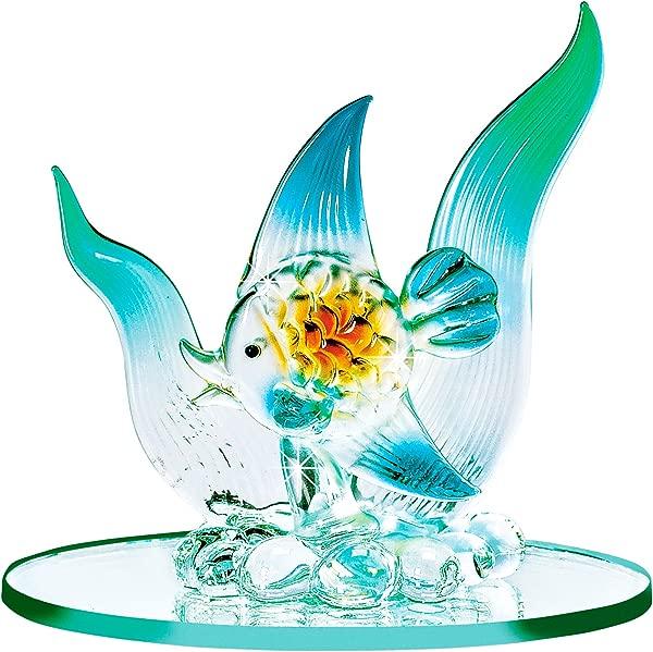The Paragon Blown Glass Fish Miniature Fish Figurine Collectible Handmade Ornament Lampwork Figure