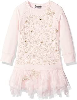 Girls' Spun Gold Sweatshirt Dress with Embroidery