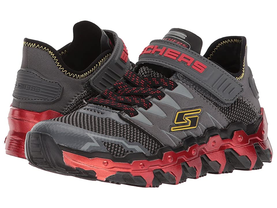 SKECHERS KIDS Mega Flex Lite Blast Out 97562L (Little Kid/Big Kid) (Charcoal/Red) Boy