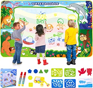 Water Doodle Mat - 150X100cm Kids Painting Writing Doodle Toy Mat - Color Doodle Drawing Mat Bring Magic Pens Educational ...