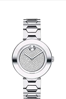 Movado Bold, Stainless Steel Case, Silver Dial, Stainless Steel Bracelet, Women, 3600567