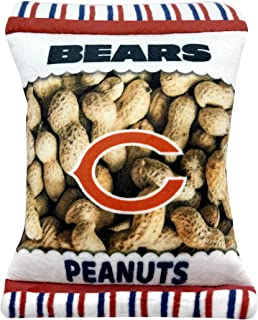 NFL Chicago Bears Crinkle FINE Plush Dog & CAT Squeak Toy - Cutest Stadium Peanuts Snack Plush Toy for Dogs & Cats with In...