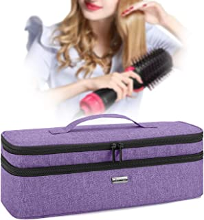 Teamoy Double-Layer Travel Storage Bag Compatible with Revlon One-Step Hair Dryer And Volumizer Hot Air Brush and Attachme...