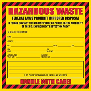 Hazardous Waste Label, 6