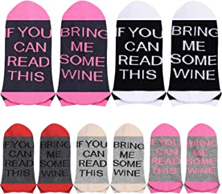 5 Pairs Wine Gifts Wine Socks, If You Can Read This Socks, Funny Girls Party