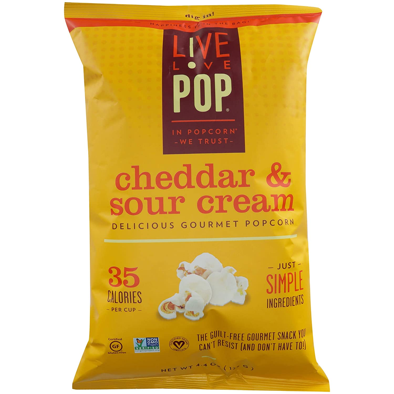 Live Love Pop Cheddar Popular Max 80% OFF brand Popcorn Pack of 4.4000000000000004 12 oz