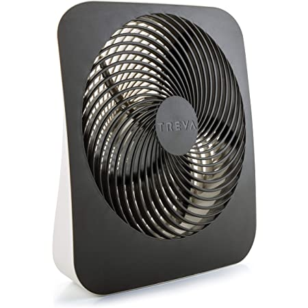 Treva 10-Inch Portable Desktop Air Circulation Battery Fan - 2 Cooling Speeds - With AC Adapter