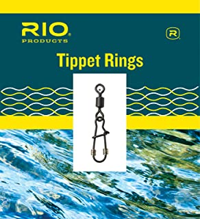 Rio Fly Fishing Head Tippet Ring 10 Pack Size Large Tackle, Steel