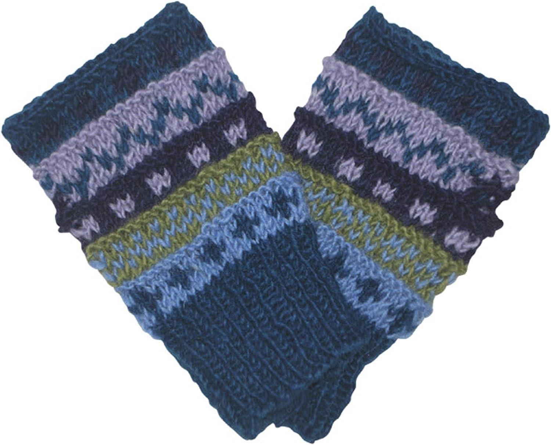 Multi knt fingerless gloves