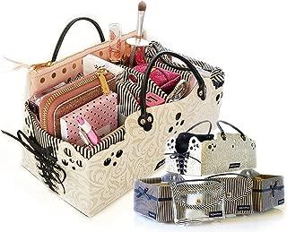 PursePacks Purse Organizer Insert Liner Dividers Cosmetic Bags Bins Luxury 5 Set