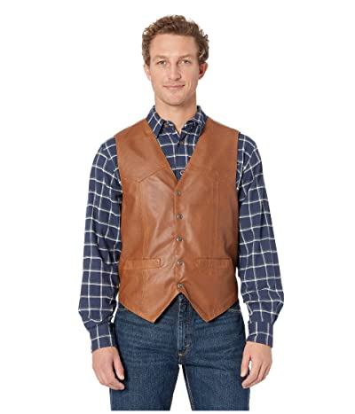 Scully Leather Vest (Tan) Men