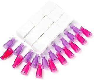 Clip para capuchas para uñas Disolvente para esmalte gel 20