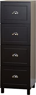 Target Marketing Systems Bradley Collection Modern 4 Drawer Filing Cabinet With Metal Handles, Black