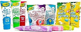 Crayola Bath Drops Fizzers, Bath Fizzers, Bath Finger Paints, Body Wash Pens - 10 Item Gift Bundle