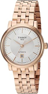 Tissot womens Carson Stainless Steel Dress Watch Rose Gold T1222073303100