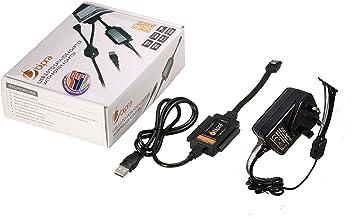 Bipra - Kit Adaptador con Cargador (Conector USB 2.0 a SATA/IDE para 2,5/3,5/5,25