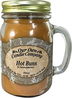 Our Own Candle Company Cinnamon Hot Buns Scented 13 Ounce Mason Jar Candle