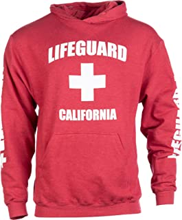 California Lifeguard | Red Cali Fleece Hoody Sweatshirt Hoodie Sweater Men Women