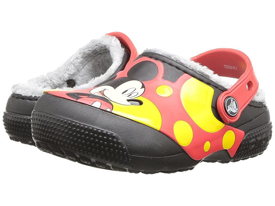 Crocs Kids FunLab Lined Mickey Clog (Toddler/Little Kid) (Black) Kids Shoes