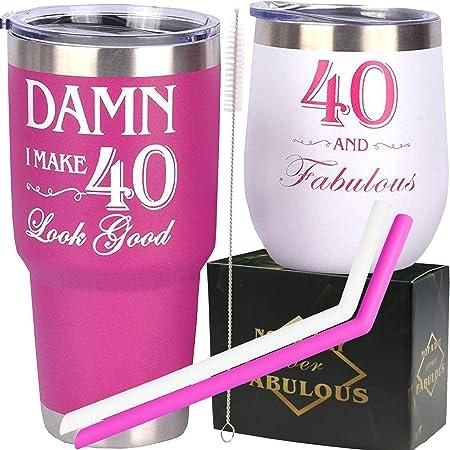 40th Birthday Gifts for Women, 40th Birthday Decorations, 40 Year Old Birthday Gifts Women, 40 Birthday Gifts for Woman, 40th Birthday Tumbler, Gift for 40 Year Old Woman Birthday