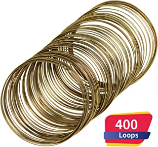 Loop Jewelry Wire Beading Wire Bracelet Memory Wire Cuff Bangle for Wire Wrap Jewelry DIY Making, About 400 Pieces (Bronze)