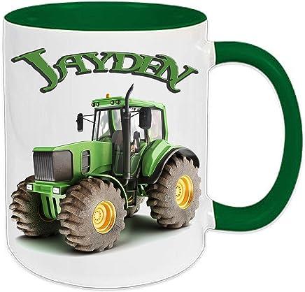 Preisvergleich für Wunschname Kindertasse Tasse Teetasse Becher Kakaotasse Bauernhof Traktor Kindergarten Kind Schulkind mit Namen