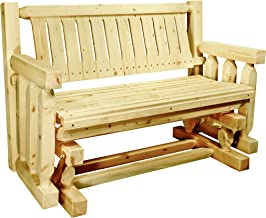 Montana Woodworks MWHCLGNRV Homestead Collection Glider, Clear Exterior Finish