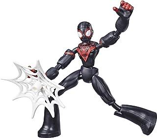 Marvel Spider-Man Figura Flexível de 15 cm, Homem-Aranha Bend and Flex - Miles Morales - E7687 - Hasbro