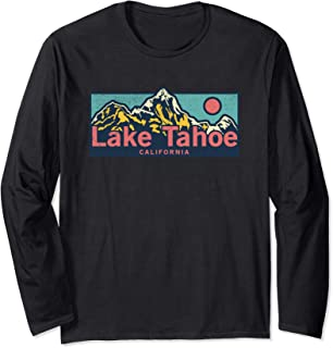 Lake Tahoe California Outdoors Adventure Mountain Graphic Long Sleeve T-Shirt