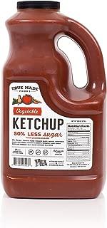 True Made Foods Vegetable Ketchup, Paleo Friendly, Non-GMO, Low Sugar, 128 oz Plastic Jug